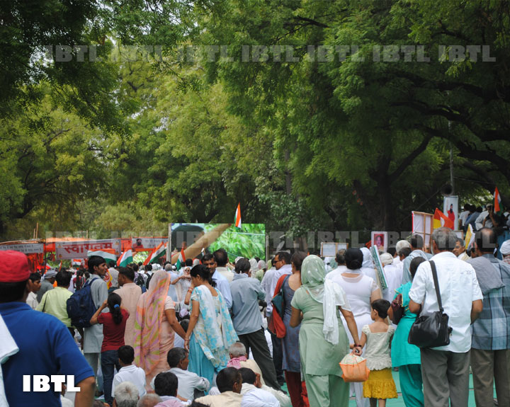 Bharat Mata ki Jai the only voice at Jantar Mantar 03 June 2012