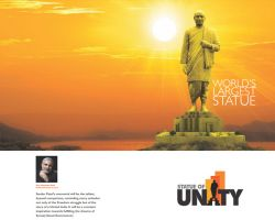 The 182-metre high statue of Sardar Patel