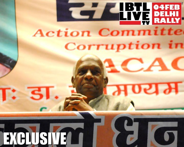 Social activist & Thinker Govindacharya on stage