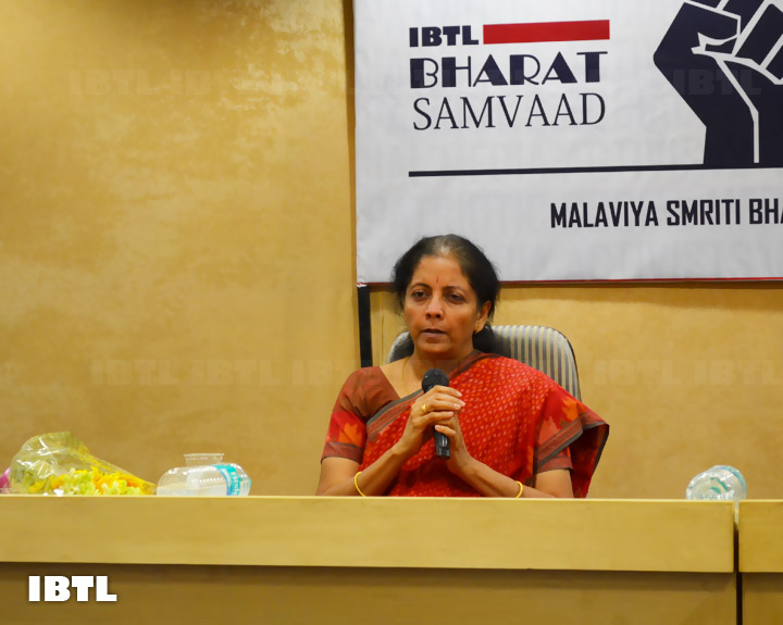 Nirmala Ji answering the questions : IBTL Bharat Samvaad