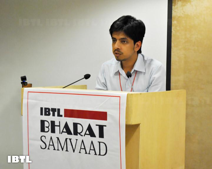 Sumeet Joshi moderating Session - III : IBTL Bharat Samvaad