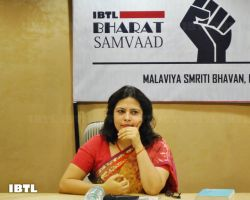 Meenakshi Lekhi Ji on stage : IBTL Bharat Samvaad