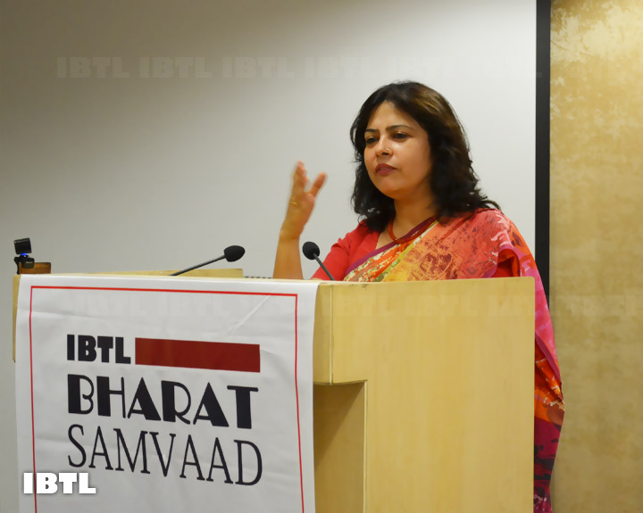 Meenakshi Lekhi Ji addressing the audience : IBTL Bharat Samvaad