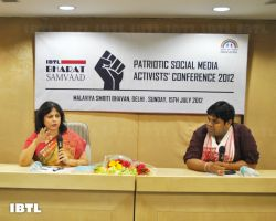 Meenakshi Lekhi Ji answering the questions : IBTL Bharat Samvaad