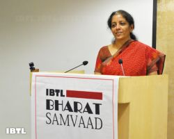 Nirmala Ji addressing the audience : IBTL Bharat Samvaad