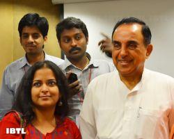 Dr @Swamy39 with Surya SG, Sumeet Joshi and Aditi Jha : IBTL Bharat Samvaad