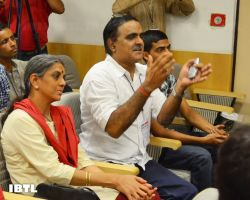 Dr @Swamy39 with A S Raghunath and Geetanjali Raghunath : IBTL Bharat Samvaad