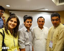 Dr @Swamy39 with Mita Lohia, Amit Sehara, Raman Sharma : IBTL Bharat Samvaad