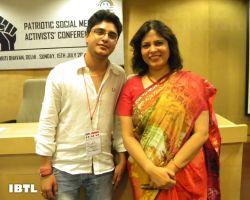 IBTL's Chhota Packet Adi Rawat with Meenakshi Ji : IBTL Bharat Samvaad