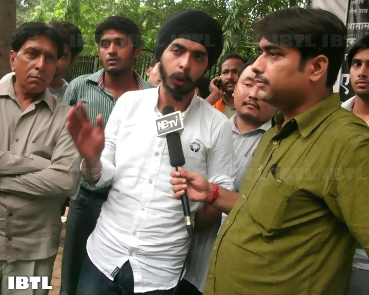 Tajinder Pal Singh Bagga with Media : Hunger Strike in support of Indigenous Peoples of Assam
