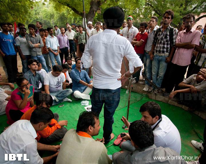 Tajinder Pal Singh Bagga addressing : Hunger Strike in support of Indigenous Peoples of Assam