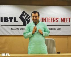 Shri Maheish Girri Ji at IBTL Volunteers' Meet