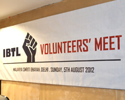 IBTL Volunteers' Meet : 05 August 2012