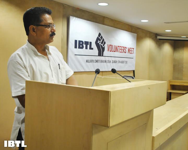 Shri Shyam Parande Ji addressing IBTL Volunteers' Meet