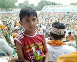 Chota recharge at Ambedkar Stadium to support Baba Ramdev