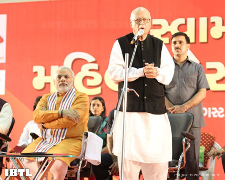 Modi thanked Advani ji, who attended despite a Parliament session in progress