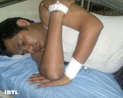 EX DUSU VP Vikas chaudhary in Hospital