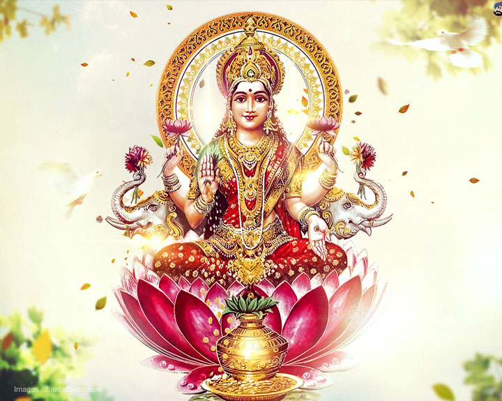 Diwali is entirely devoted to the propitiation of Goddess Lakshmi