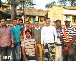 With BSF Jawans at Bangladesh border in Shillong