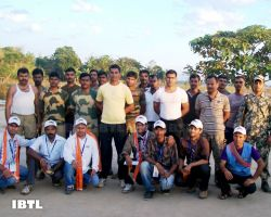 With soldiers on Pakistan border in Sri Ganga nagar