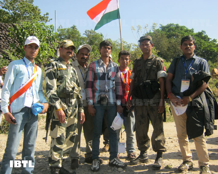 With soldiers on Banglaedesh border in Guwahati