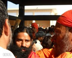 Baba Ramdev at Antim Sanskaar Sthal