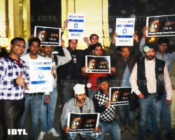 Bhagat Singh Kranti Sena at India gate : Peace March in support of Israel
