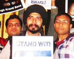 Bhagat Singh Kranti Sena's Peace March in support of Israel