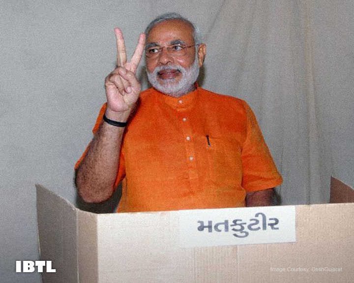 Narendra Modi casts vote in Ahmedabad