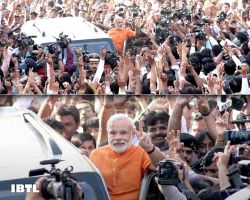 The Sign of Victory, Narendra Modi with Gujarati janta