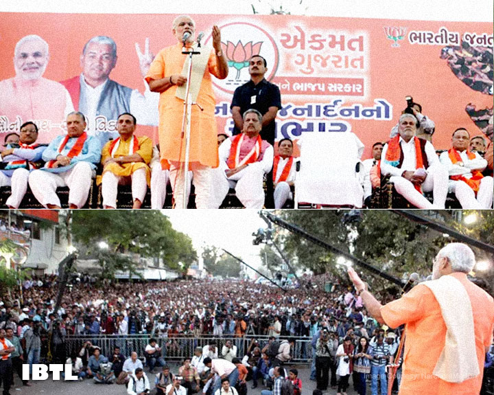 Gujarat Elections 2012- Shri Narendra Modi addresses massive public meeting in Ahmedabad