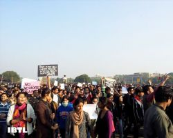 Protest at Rashtrapati Bhavan, Raisina Hill, New Delhi
