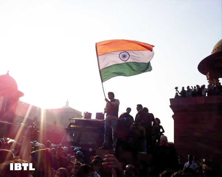 Protesters, water cannons and Delhi Police : Tricolour in the sky