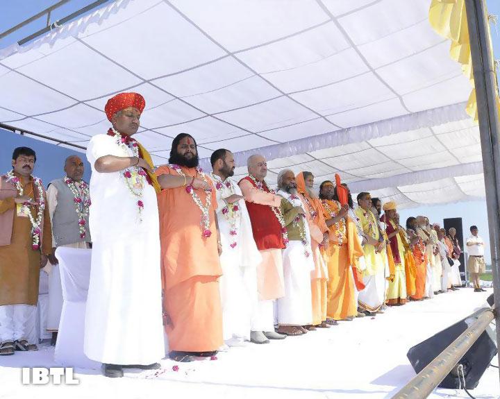 Dhwaj Pranam with Sant Samaaj : Malwa Prant Ekatrikaran