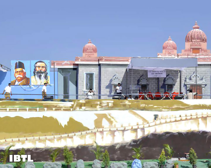 Dr Hedgewar and Guruji : Stage at Malwa Prant Ekatrikaran