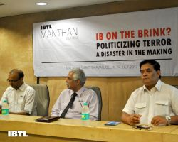 Speakers at IBTL Manthan, IB on the Brink? : Politicizing Terror A Disaster in Making