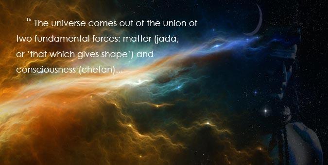universe, maya illusion myth, two fundamental forces, shape and consciousness, chetan, prakrati purusha, enlivening spirit, shiva shakti, ibtl vande matra sankruti