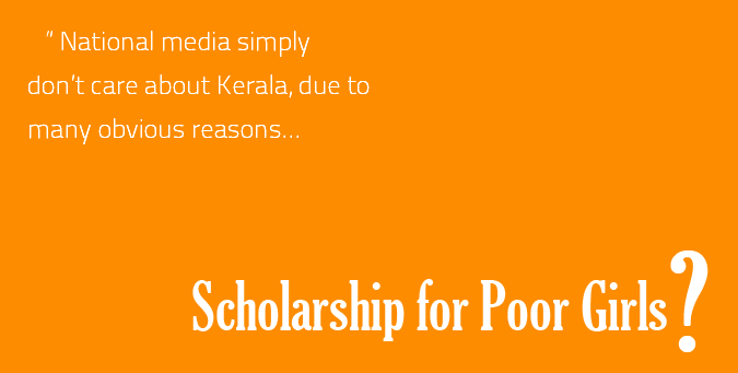 Former Leftist Government, Kerala scholarship, Poor Girls, Muslim community, Converted Christian,  Velar community,