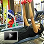 South India, Chennai, India, World, Fitness, Exercise, Dumbbell chest press, Strength train