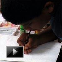 Child prodigy, artist, Angruthuvik, Rice grains, art, video, news, ibtl