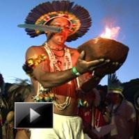 Indigenous, Peoples, light, Rival, Gathering, Rio suburb, Indigenous Brazilians. news, videos, ibtl