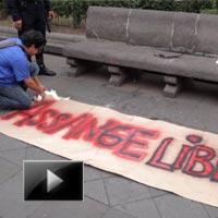 Supporters, Assange, demonstrate, Quito, WikiLeaks, Julian Assange, news, videos, ibtl