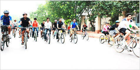 India Against Corruption, Rider's, Rashtrapati Bhawan, Delhi Cyclists