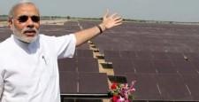 Narendra Modi, Asia's biggest solar power plant, Kankrej, Gujarat, Rann of Kutch, Moser Baer, Dipak Puri