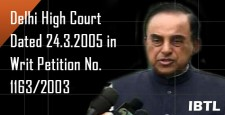 Dr. Swamy, Resignation of P. Chidambaram, Mr. S.P. Gupta, Supreme Court, IBTL