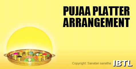 Pujaa platter arrangement , fha, hindu jagruti,