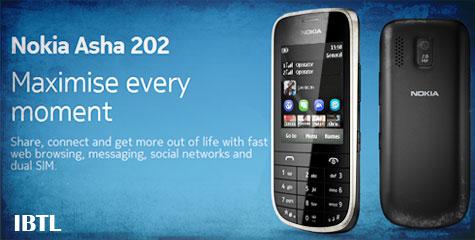 India, World, nokia, Nokia asha 202, Nokia dual sim asha 202, Nokia asha price, Nokia asha 202 price, ibtl tech news