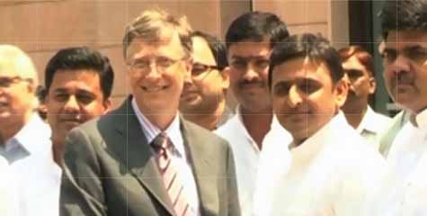 Bill Gates, Akhilesh Yadav‎, discussion on healthcare programmes, Anupriya Patel, Bill and Melinda Gates Foundation, polio eradication and other vaccinations, ibtl