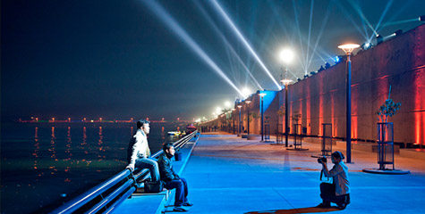 Sabarmati Riverfront, walkway, new water rides, modi, ahemdabad, modi magic, gujarat rivers