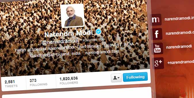 modi social media strategy, modi twitter follower list, shashi tharoor twitter